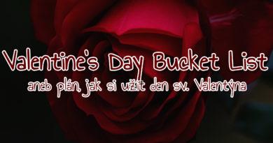 Valentine's Day Bucket List aneb plán, jaksiužítden sv.Valentýna