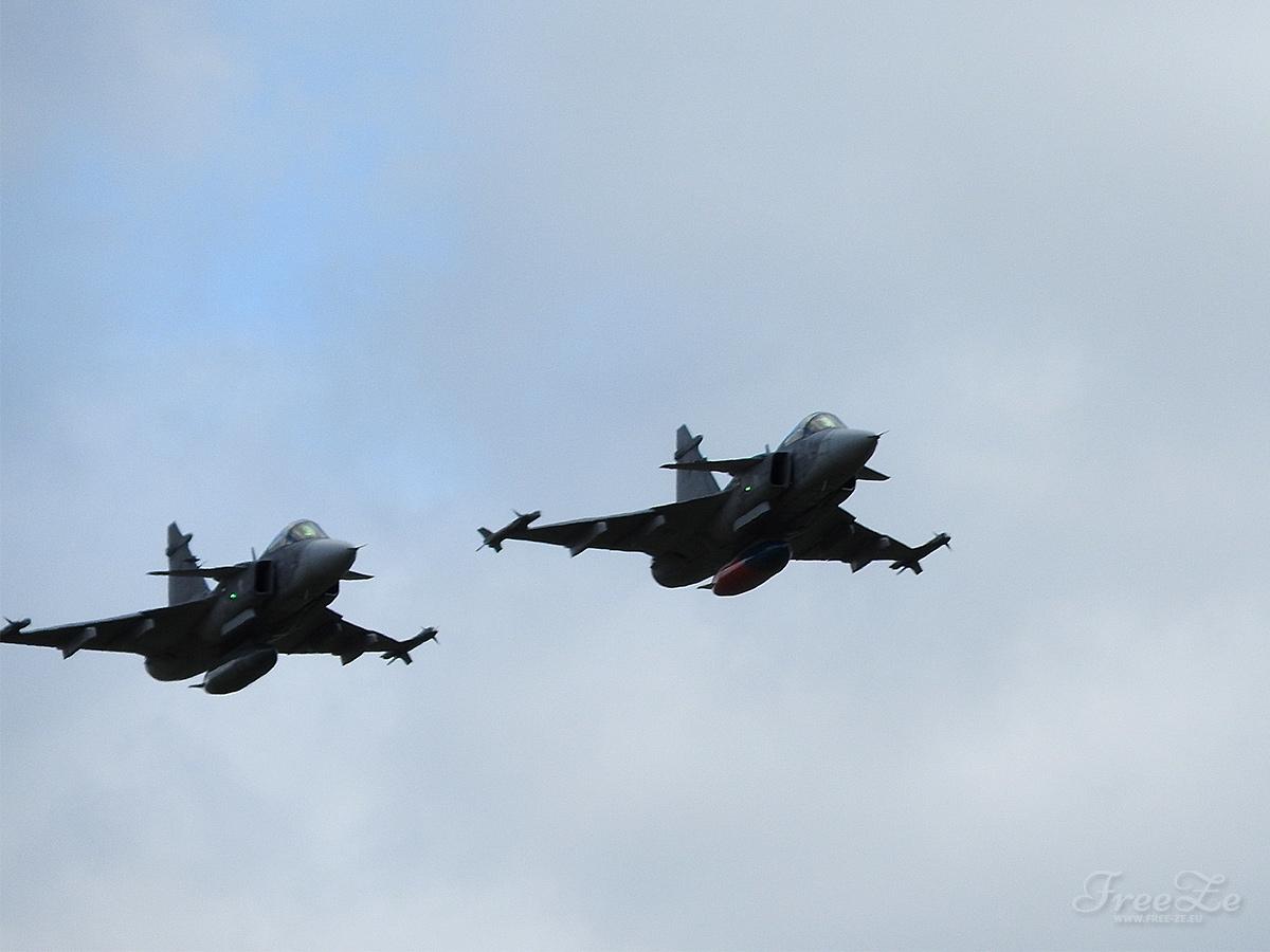 Den ve vzduchu v Plasích: Saab JAS-39 Gripen