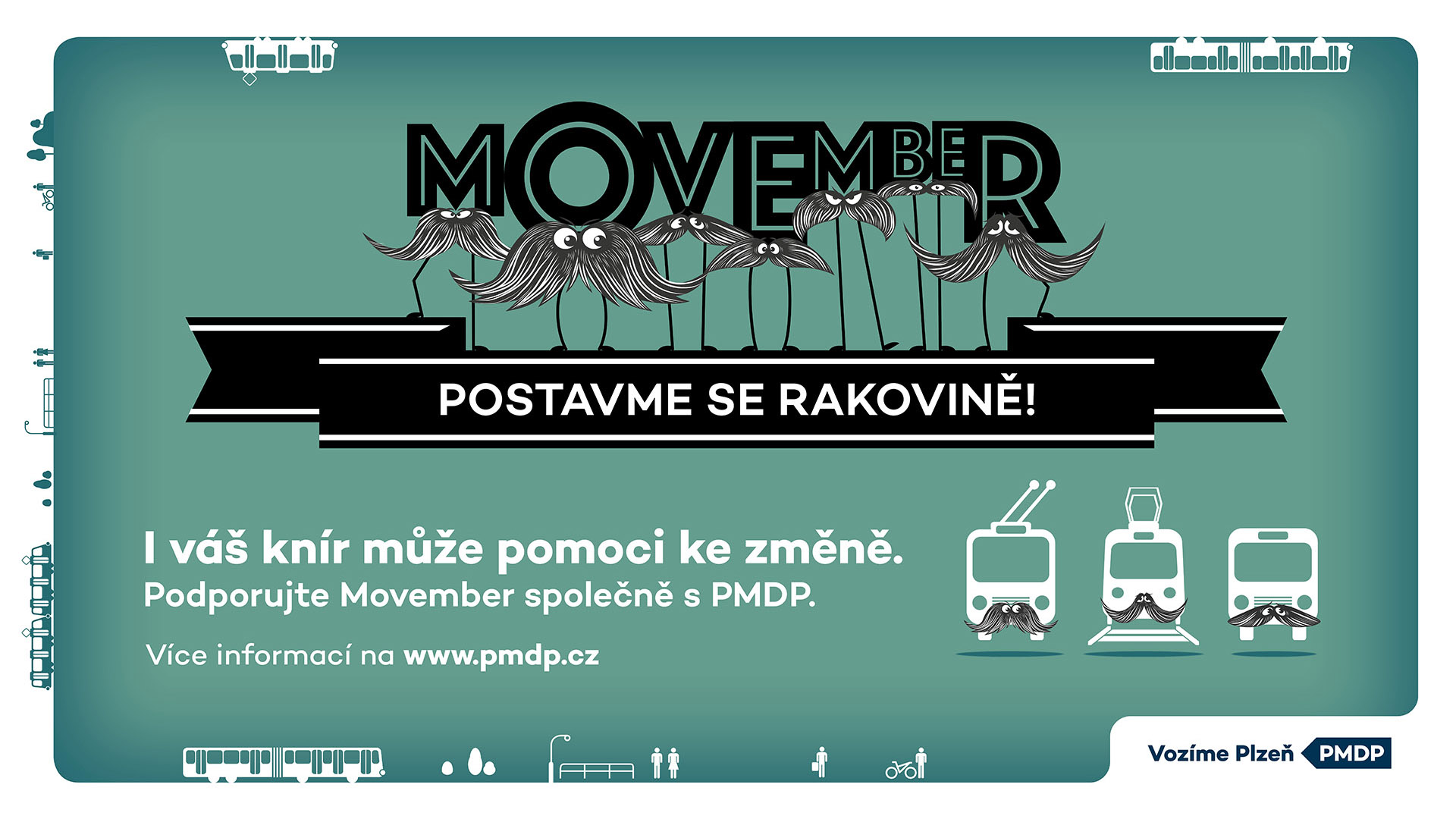 Movember: I váš knír může pomoci ke změně. | Zdroj: PMDP a.s.