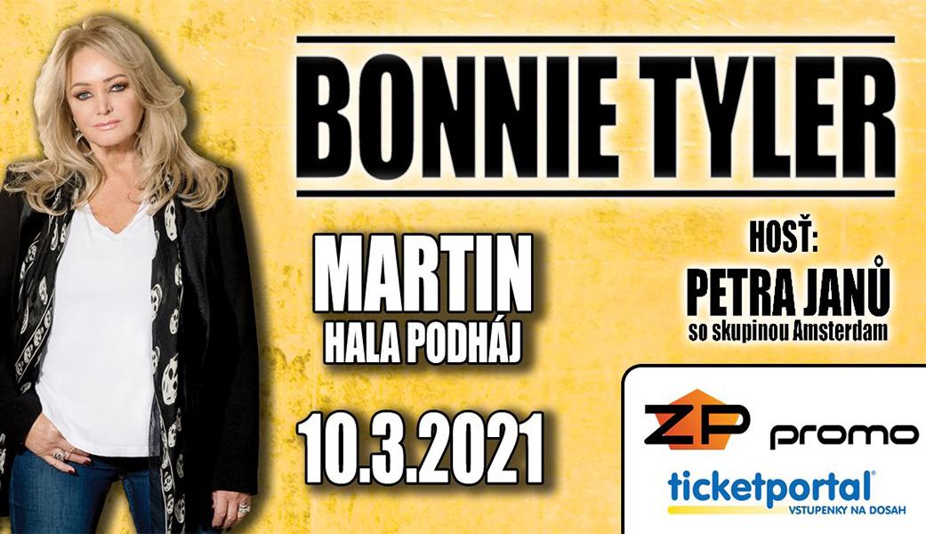 Bonnie Tyler vystoupí 10. března 2021 v Martině