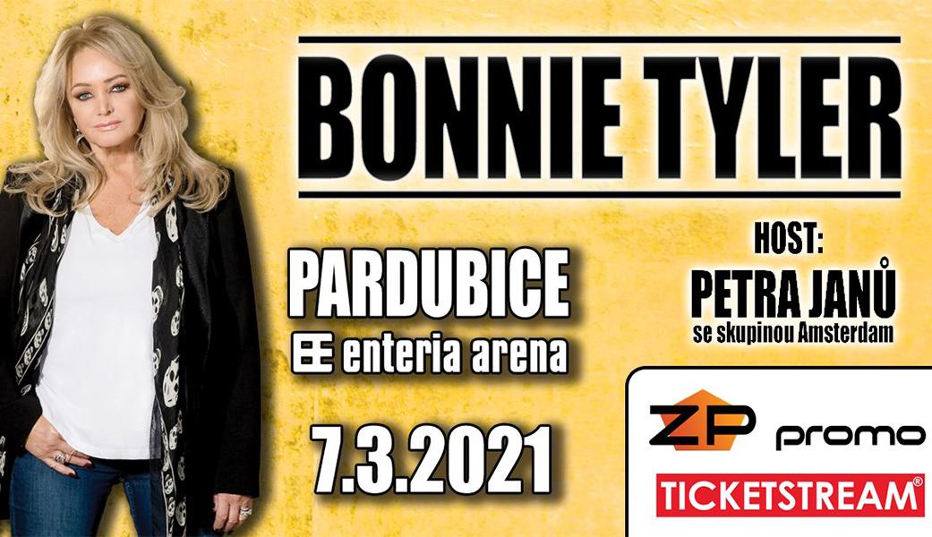 Bonnie Tyler vystoupí 7. března 2021 v Pardubicích