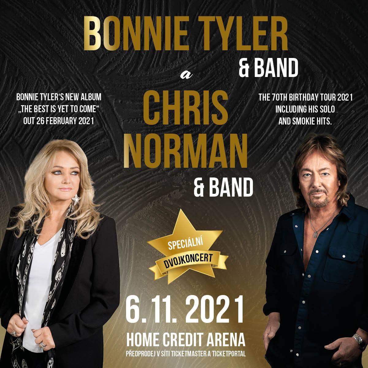 Bonnie Tyler a Chris Norman vystoupí v Liberci 6. listopadu 2021
