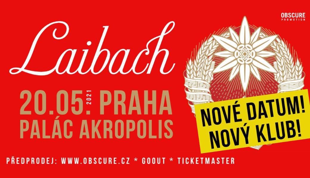 Laibach se 20. května 2021 představí v Paláci Akropolis