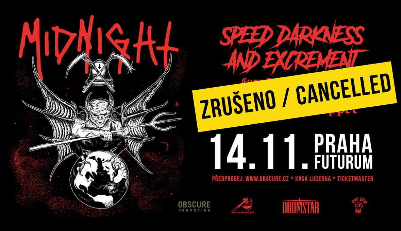 Koncert Midnight v Praze je zrušen.