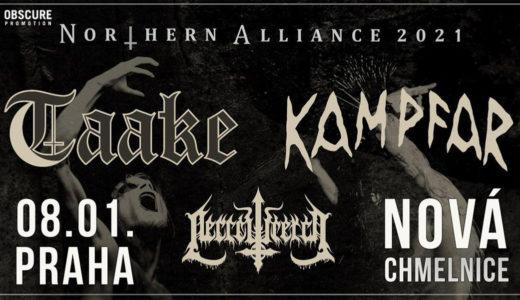 Taake vystoupí 8. ledna 2021 v pražské Nové Chmelnici