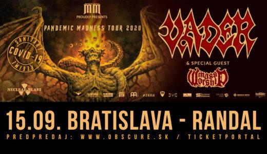 Polští Vader vystoupí 15. září 2020 v Bratislavě