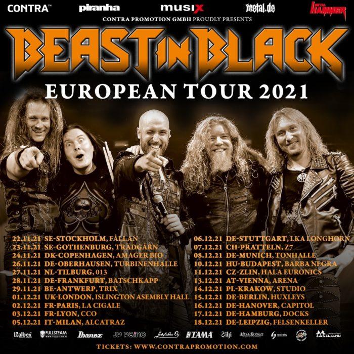 Beast in Black 11. prosince 2021 zahrají v hale Datart