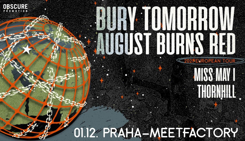 Bury Tomorrow a August Burns Red zahrají 1. prosince 2021 v Praze